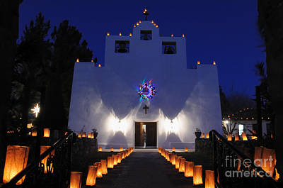 Luminaria Photograph - Luminarias At St Francis De Paula by Vivian Christopher