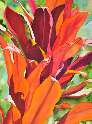 Bromeliad Painting - Luminescence  by Terry Arroyo Mulrooney