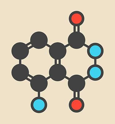 Luminol Chemiluminescent Molecule Art Print