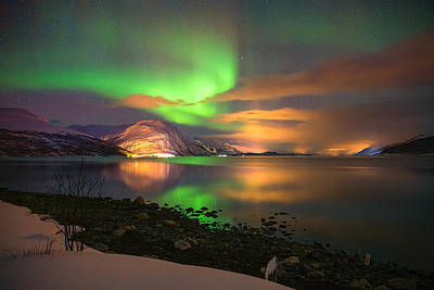 Northernlights Photograph - Luminous Landscape by Anders Hanssen