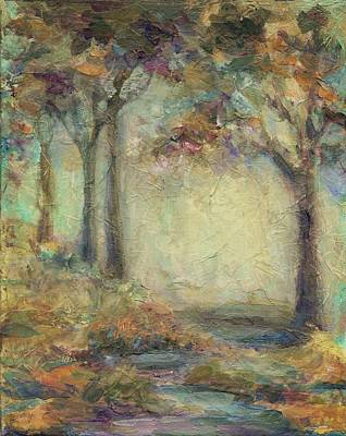 Impressionist Mixed Media - Luminous Landscape by Mary Wolf