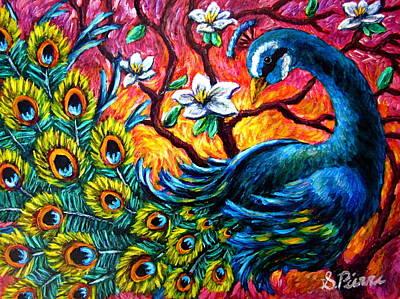 Luminous Peacock Art Print