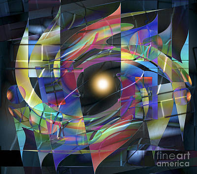Digital Art - Luminous Photon by Ursula Freer