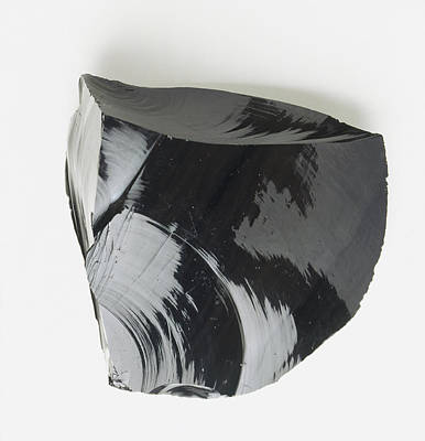 Black Glass Photograph - Lump Of Black Obsidian by Dorling Kindersley/uig