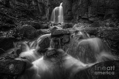 Photograph - Lumsdale Falls 1.0 Bw by Yhun Suarez