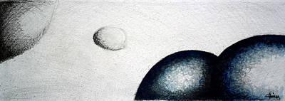Love Poem Drawing - Luna 2 - Moon 2 by Juan Jimenez