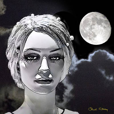 Photograph - Luna And Moon by Chuck Staley