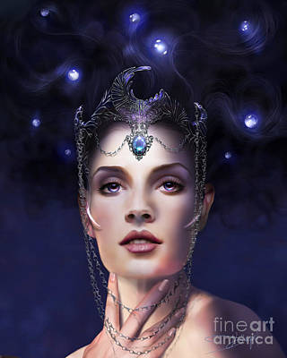 Luna Art Print by Drazenka Kimpel