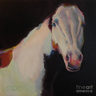 Chestnut Paint Horse Painting - Luna II  by Kimberly Santini