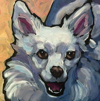 American Eskimo Dog Painting - Luna July 28 30 Dogs by Kat Corrigan