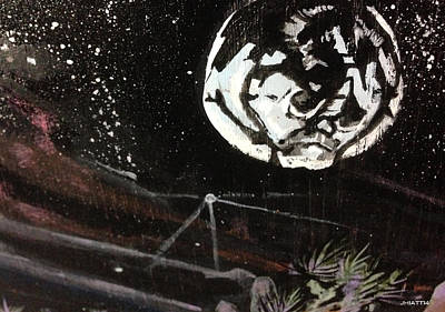 Painting - Luna by Justin Hiatt