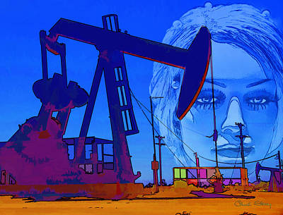 Luna Oil Well Print by Chuck Staley