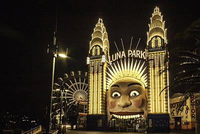 Sydney Skyline Digital Art - Luna Park by Alex Gitman