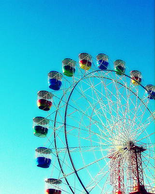 Photograph - Luna Park Ferris Wheel by Ramona Johnston
