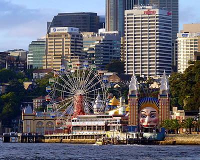 Photograph - Luna Park In Sydney Australia by Carla Parris