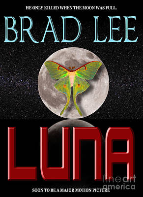 Paperback Cover Design Photograph - Luna Sample Book Jacket by Mike Nellums