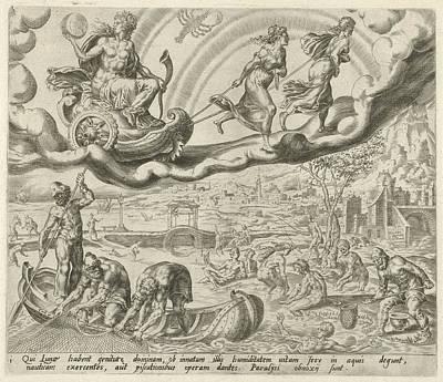 Luna, The Moon, And Her Children, Harmen Jansz Muller Art Print