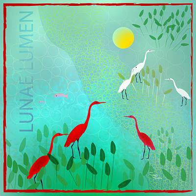 Digital Art - Lunae Lumen - Limited Edition Of 15 by Gabriela Delgado
