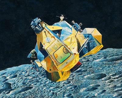 Painting - Lunar Accent Module by Douglas Castleman