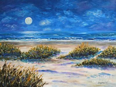 Painting - Lunar Beach by Stanton Allaben