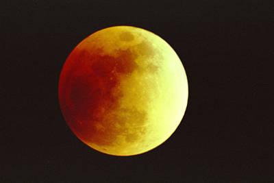 Photograph - Lunar Eclipse by Alan Vance Ley