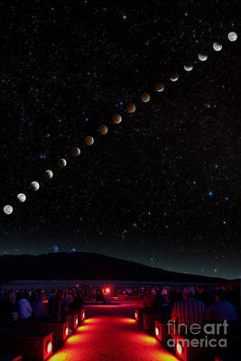 Photograph - Lunar Eclipse Path by Larry Landolfi