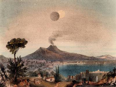 1845 Photograph - Lunar Eclipse by Universal History Archive/uig