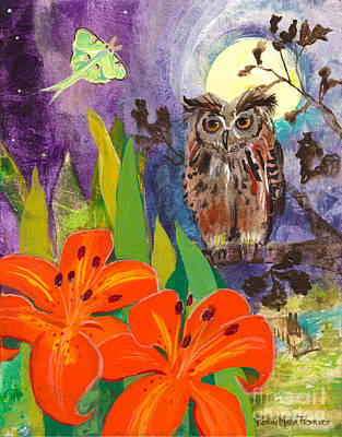 Lunar Enchantment Art Print by Robin Maria Pedrero