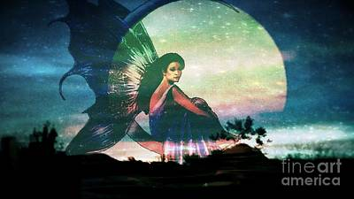 Photograph - Lunar Fairy by Maria Urso