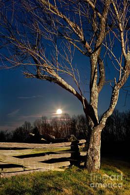 Split Rail Fence Photograph - Lunar Landing - Blue Ridge Parkway by Dan Carmichael