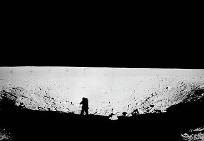 Lunar Landscape Art Print by Nasa/detlev Van Ravenswaay