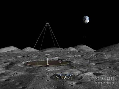Earth Based Photograph - Lunar Liquid Mirror Telescope, Artwork by Walter Myers