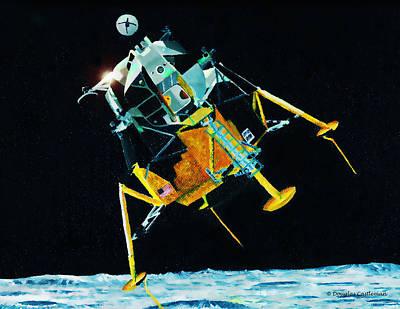 Painting - Lunar Module by Douglas Castleman
