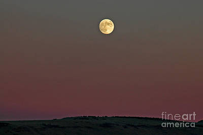 Lunar Over Indian Ridge Art Print by Nick  Boren