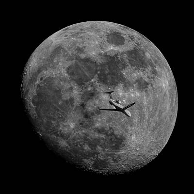 Photograph - Moon Passing by Erwin Spinner