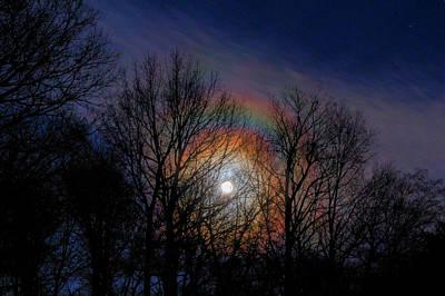 David Jones Photograph - Lunar Rainbow by David M Jones