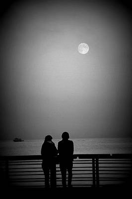 Photograph - Lunar Romance by Brian Chase