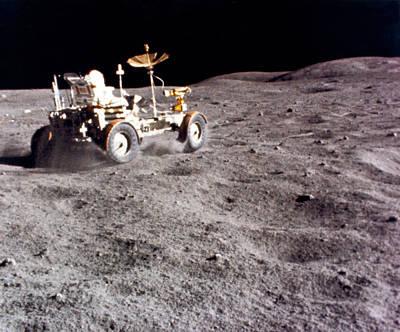 Lunar Vehicle Speed Run Art Print by Underwood Archives