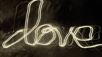 Photograph - Lunartext Love by Maria  Disley