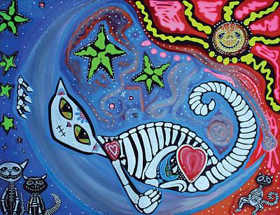 Skelly Painting - Lunas Dream by Laura Barbosa