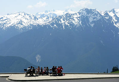Photograph - Lunch At Hurricane Ridge by Patricia Januszkiewicz