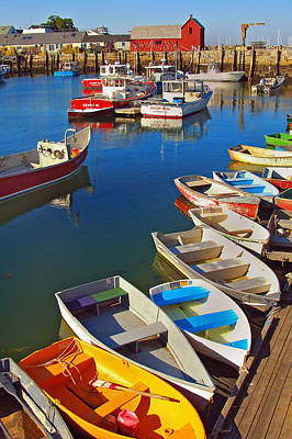 Row Boat Photograph - Lunch At The Harbor by Joann Vitali
