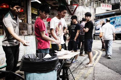 Lunch Break For Hong Kong Students Original by Thierry CHRIN