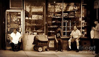 Photograph - Lunch Break - New York City Street Scene by Miriam Danar
