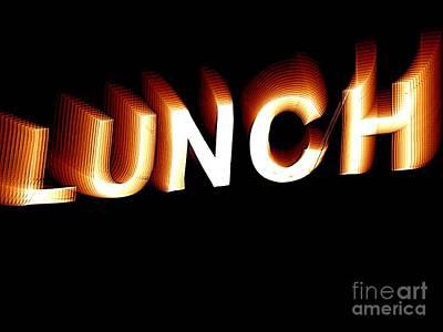 Lunch Art Print by Ed Weidman