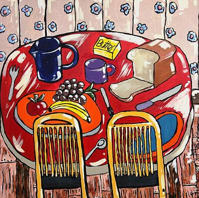 Painting - Lunch For Two  by Mark Watson
