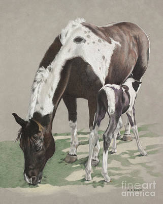 Drawing - Lunch Time by Helen Bailey