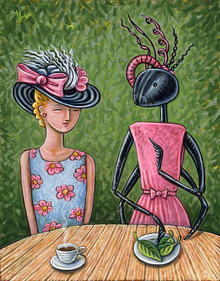 Ant Painting - Lunch With A Favorite Ant by Holly Wood