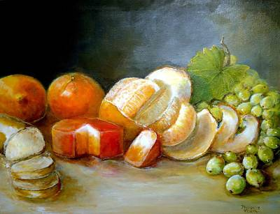 Art Print featuring the painting Luncheon Delight - Still Life by Bernadette Krupa