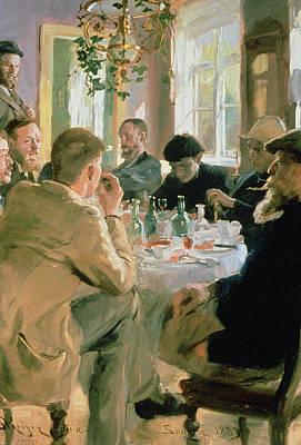 Painter Photograph - Lunchtime, 1883 by Peder Severin Kroyer